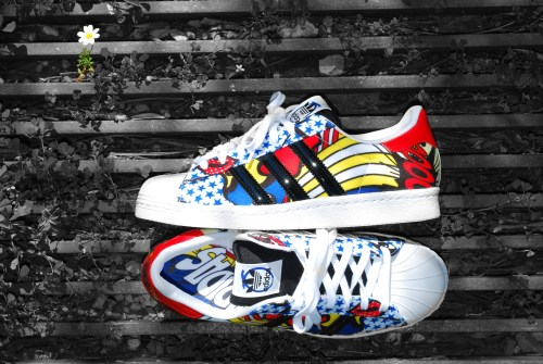 Ivy-Adidas Superstar 80s shoes by Rita Ora