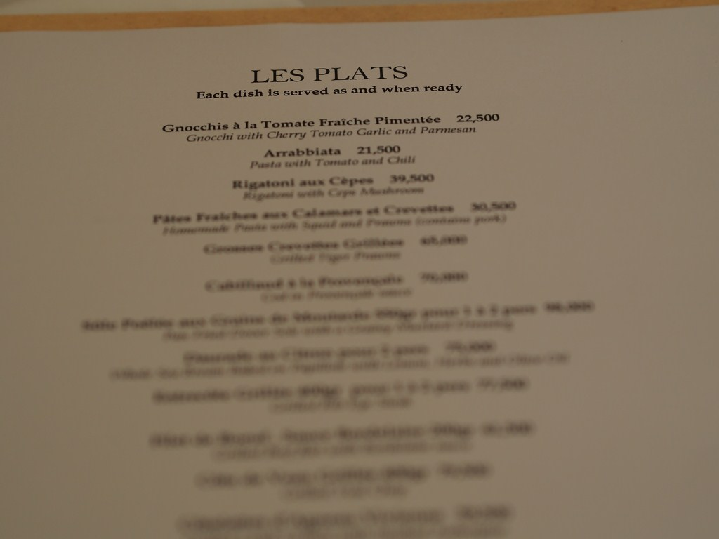 La Petite Maison Beirut Review menu review