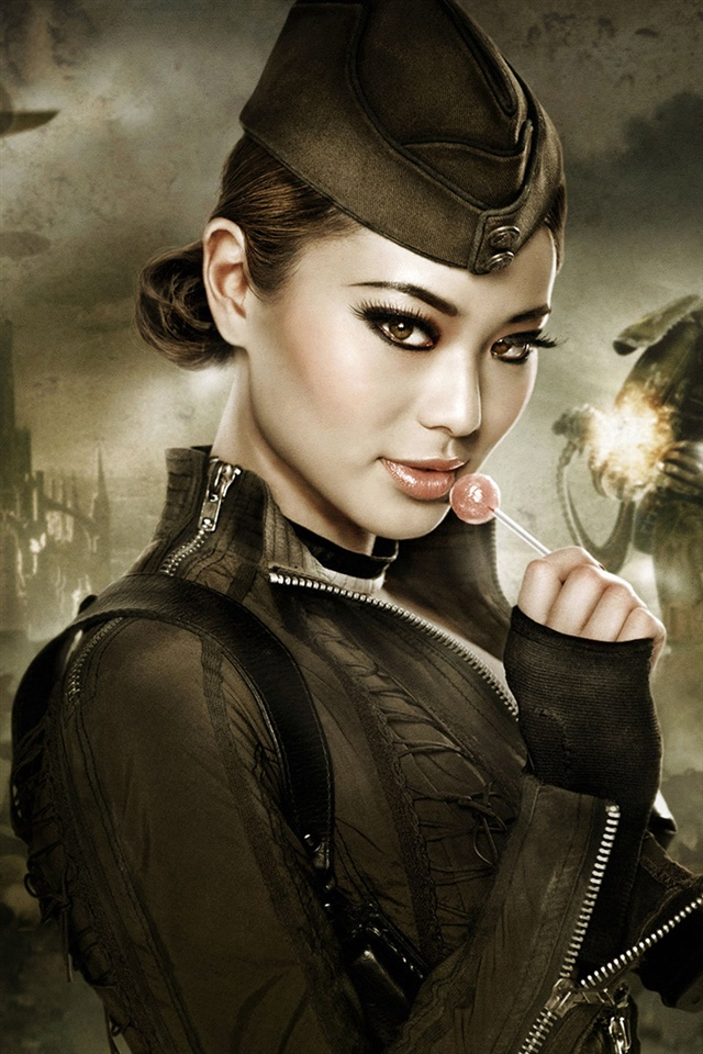 Cute Babydoll Wallpaper Jamie Chung In Sucker Punch Movie 640x960 Iphone 4 4s