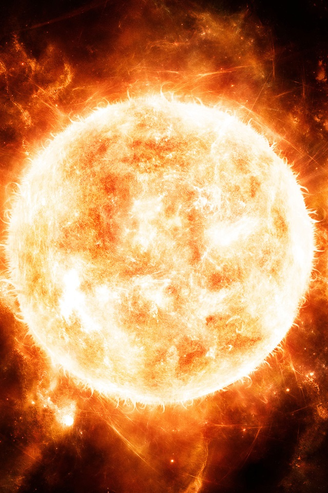 Iphone 5s Cute Wallpaper Red Hot Sun Close Up Iphone X 8 7 6 5 4 3gs Wallpaper