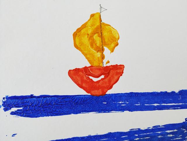βάρκα στάμπα από αβγοθήκη