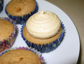 Piped Caramel Frosting