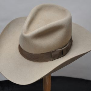 Sahara Drover hat with dark brown ribbon