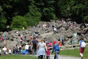 Hochbetrieb am Felsenmeer