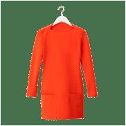 Red Long-Sleeve Sheath, $130