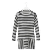 Long-Sleeve Striped Sheath, $140