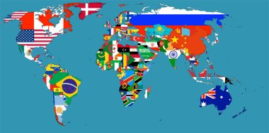 Flag Map of the World