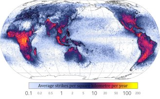 Frequency of Lightning Strikes