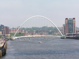 Gateshead Millennium Bridge - World's Only Tilting Bridge