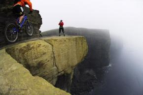 Bike trail on the Cliffs of Moher