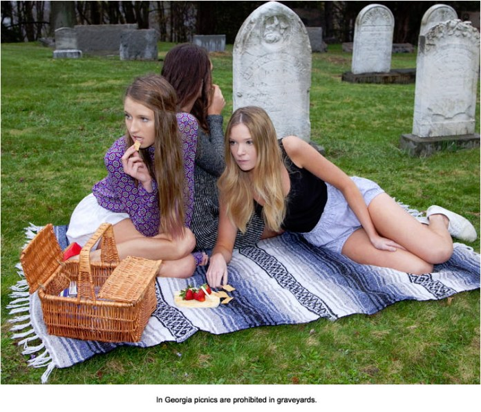 In Georgia picnics are prohibited in graveyards.