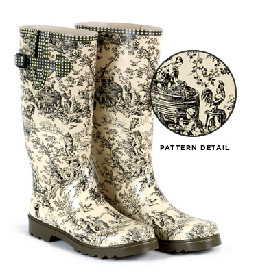 Hunter Toile Wellington boots