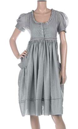 Alexander McQueen Pintuck pleated cotton dress