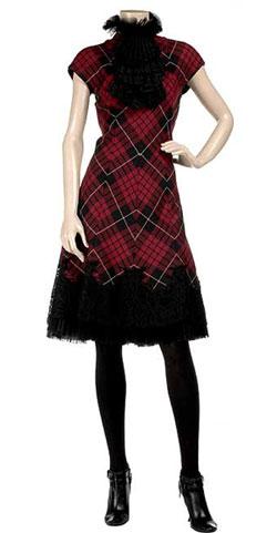 Alexander McQueen Tartan dress