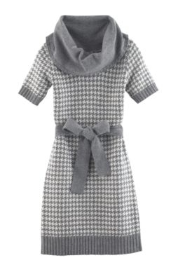 Houndstooth Sweater Dress from Joe Fresh
