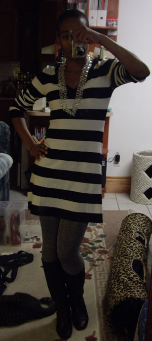 H&M Striped sweater dress