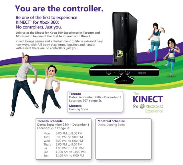 Kinect for Xbox 360 Experience