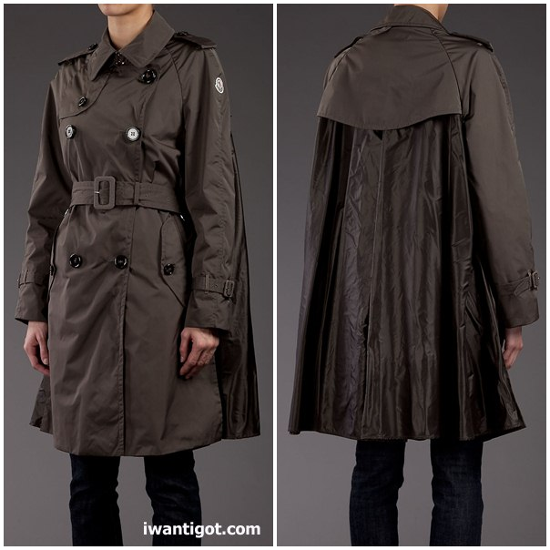 Moncler S 'Shihoko' Cape Style Trench