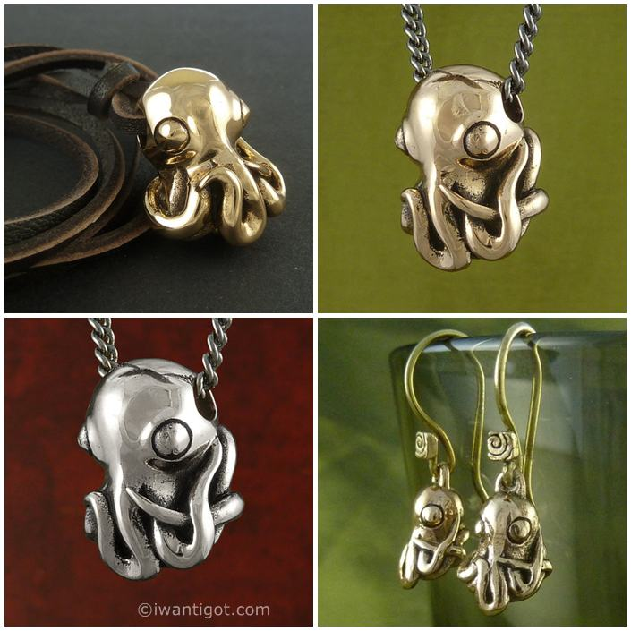 Octopus Necklaces by Lost Apostle