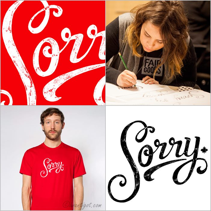 Sorry T-shirt by Fairgoods
