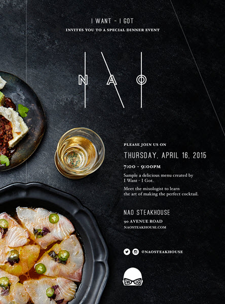 Nao Steakhouse x I want - I got Dinner Party