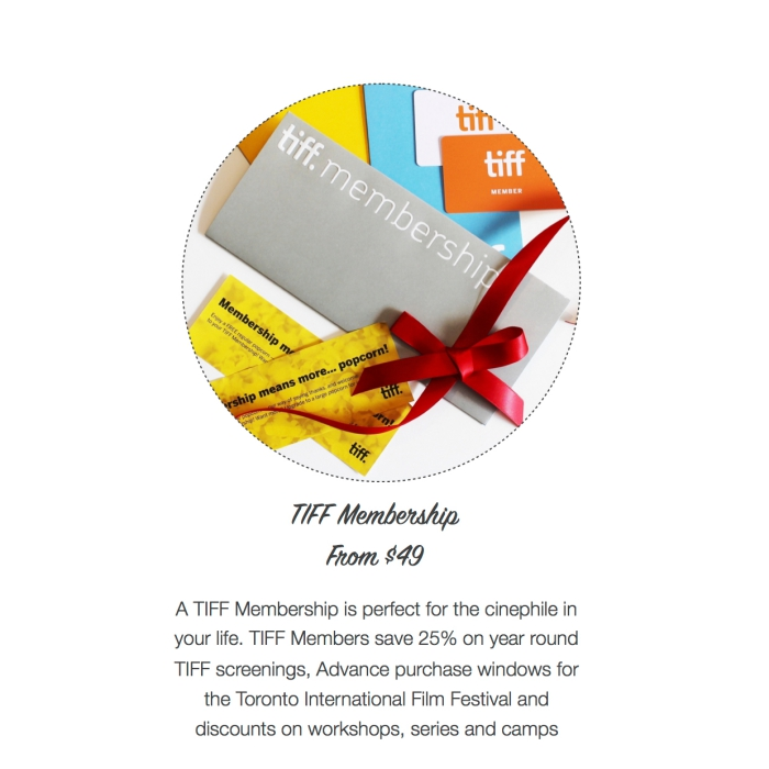 I want - I got 2016 Holiday Gift Guide - TIFF Membership