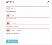 Ajax Bootstrap Signup Form jQuery PHP MySQL Source Code