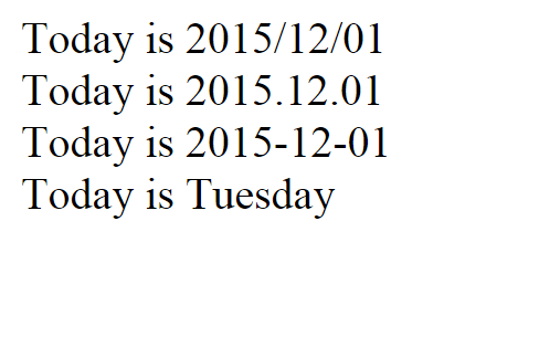 Date Format PHP Source Code