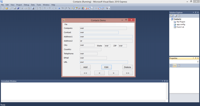 Contact Management Application VB.NET Source Code