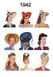 1940 hats pin