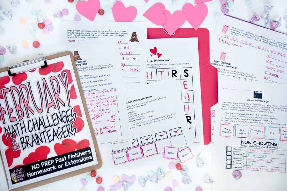 hight resolution of Save Your Sanity with 4 {FREE} February Printables - I Want to be a Super  Teacher