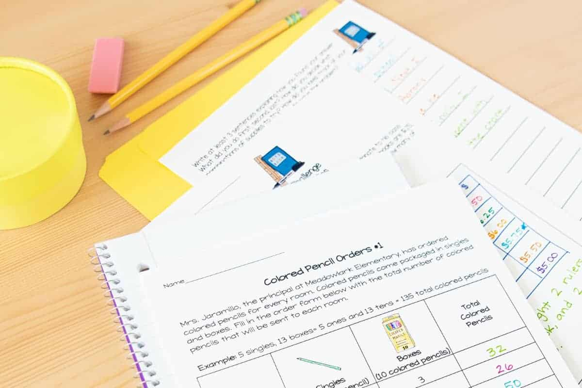 Back To School Math Worksheets 2nd 3rd Grade 5