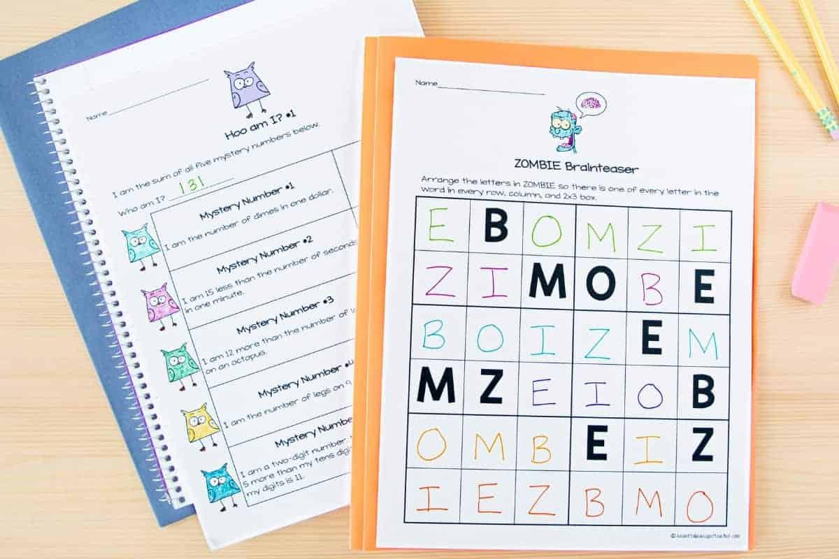 Halloween Math Worksheets 2nd 3rd Grade 4