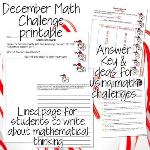 small resolution of Santa Scramble Math Challenge: A Festive Freebie Download - I Want to be a  Super Teacher