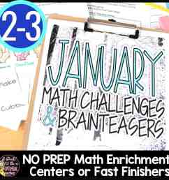 Winter Math Challenges and Brainteasers - I Want to be a Super Teacher [ 1080 x 1080 Pixel ]