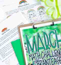 Engage and Challenge with FREE March Math Activities - I Want to be a Super  Teacher [ 800 x 1200 Pixel ]