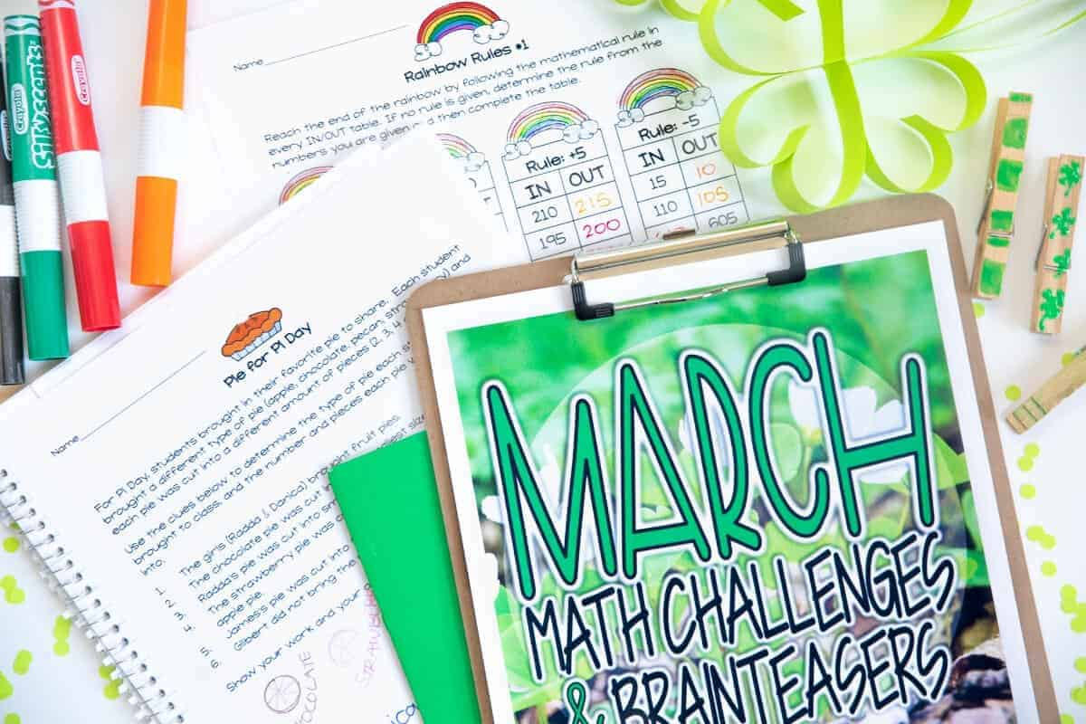 hight resolution of Engage and Challenge with FREE March Math Activities - I Want to be a Super  Teacher