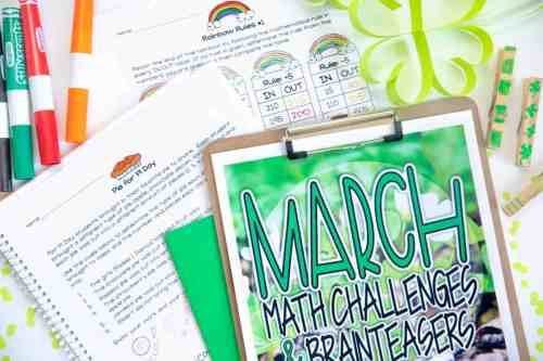 small resolution of Engage and Challenge with FREE March Math Activities - I Want to be a Super  Teacher