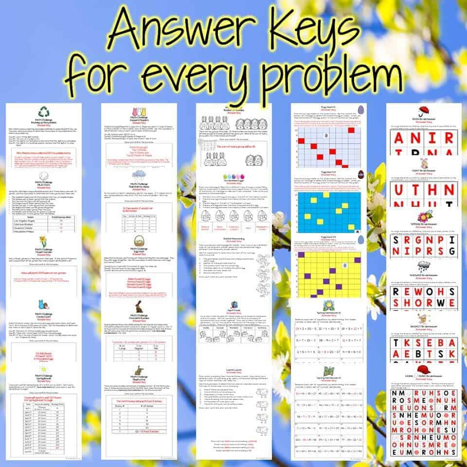 hight resolution of Easter Math Challenges \u0026 Brainteasers 2nd \u0026 3rd Grade Math Activities for  April - I Want to be a Super Teacher