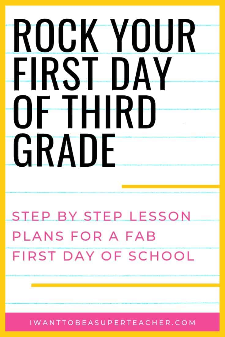 medium resolution of The First Day of Third Grade: A Full Day of Plans for 3rd Grade Teachers -  I Want to be a Super Teacher