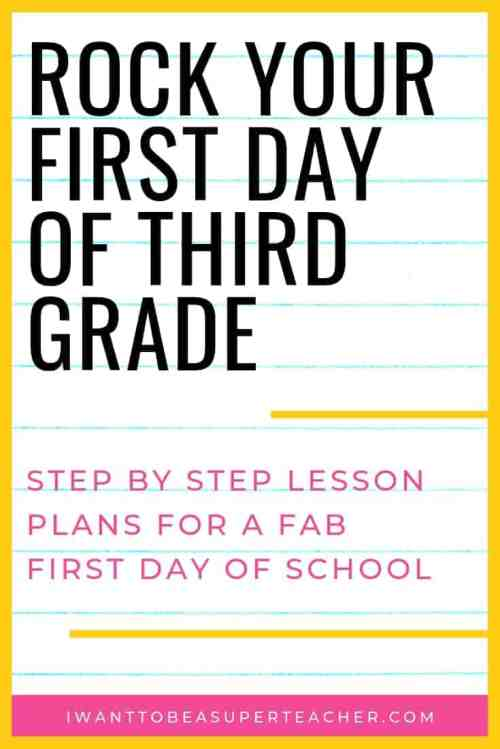 small resolution of The First Day of Third Grade: A Full Day of Plans for 3rd Grade Teachers -  I Want to be a Super Teacher