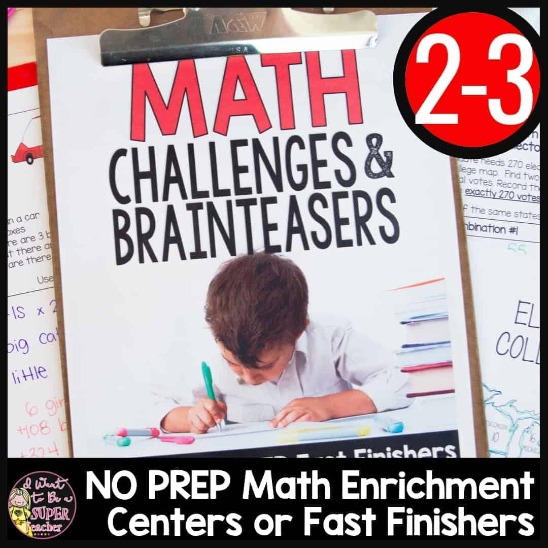 hight resolution of Math Challenges \u0026 Brainteasers for 2nd \u0026 3rd Grade - I Want to be a Super  Teacher