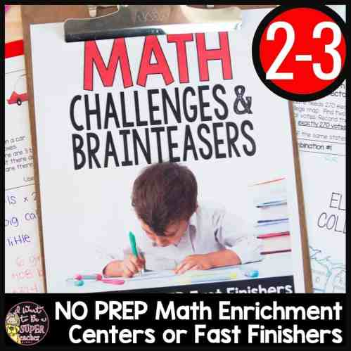 small resolution of Math Challenges \u0026 Brainteasers for 2nd \u0026 3rd Grade - I Want to be a Super  Teacher