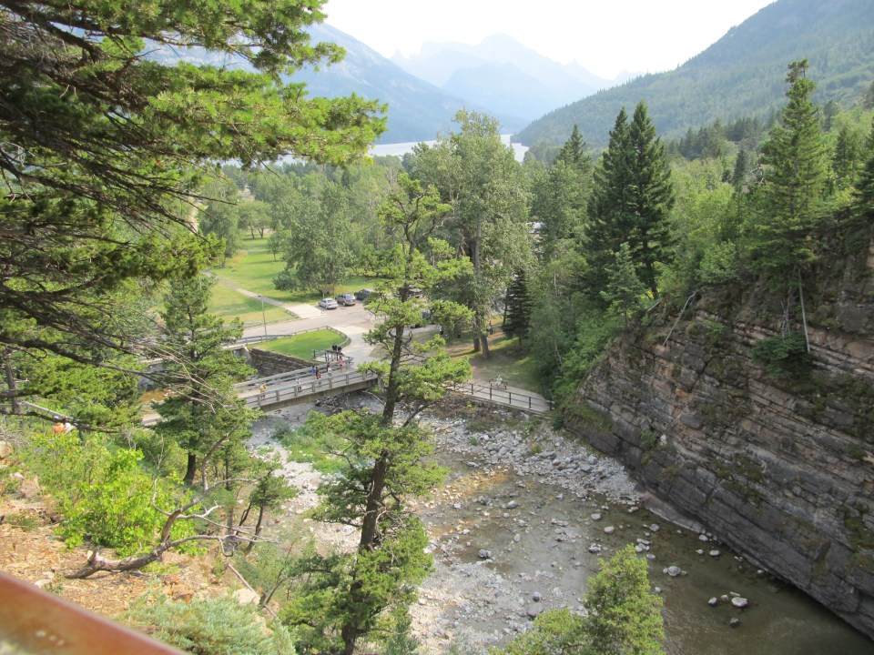 View from the top of Cameron Falls, Wateron, Alberta