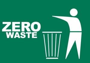 zero waste trash can zero littering sign