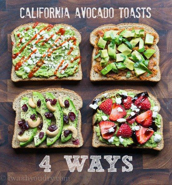 california avocado toasts 4