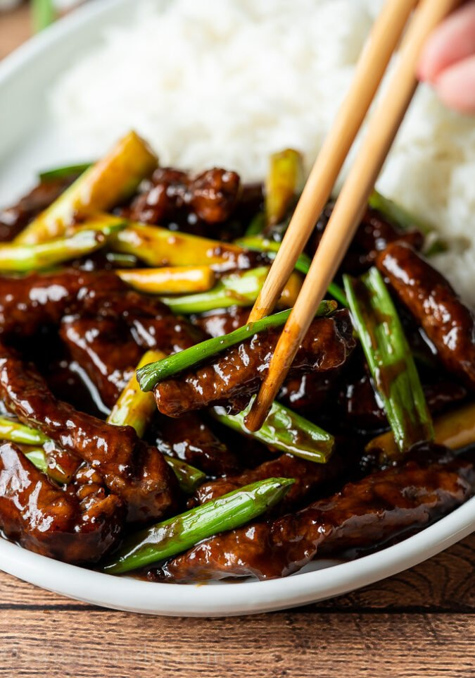 Super Easy Mongolian Beef Recipe | I Wash You Dry