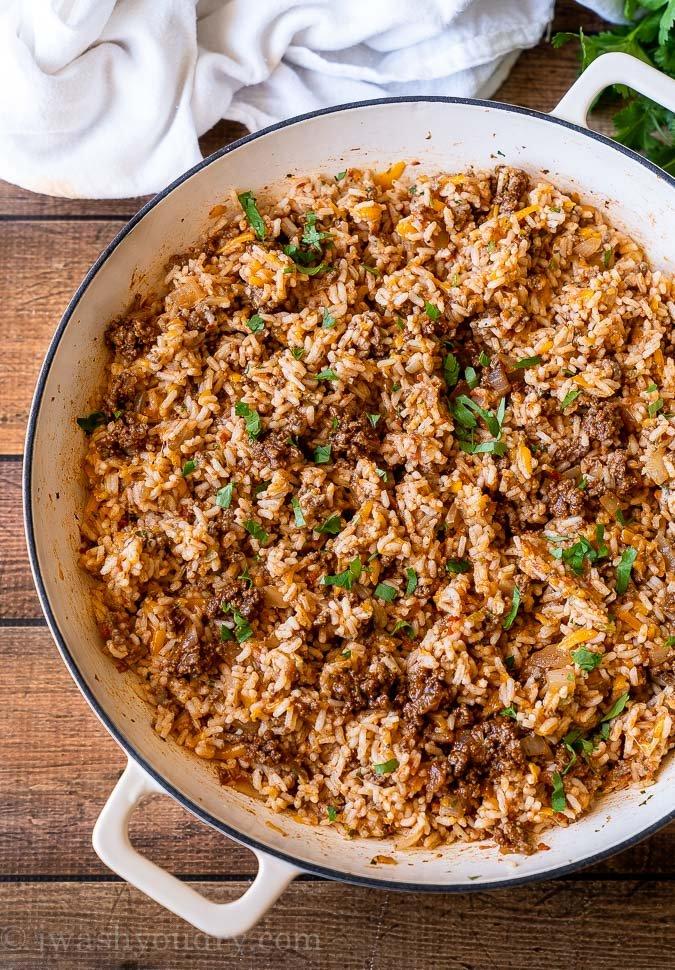 Cheesy Taco Rice Skillet