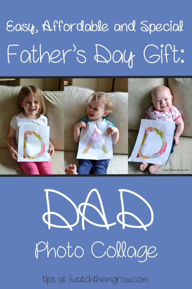 A Dad photo collage is the perfect gift for Father's Day! It's easy, affordable and so special.