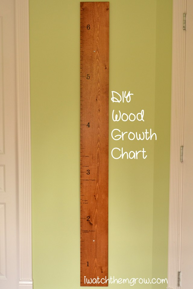 Tutorial for a DIY wood growth chart - easy, classic, functional and beautiful! This is a must have for parents!